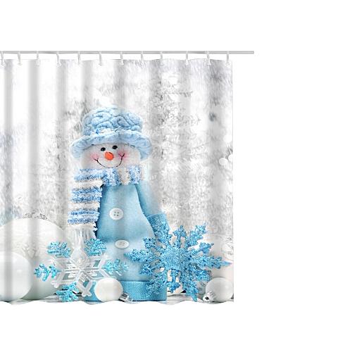 Christmas Waterproof Polyester Bathroom Shower Curtain Decor With Hooks  65x71u0027u0027