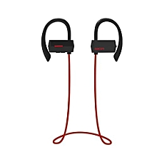 Sports Bluetooth Headphones IPX4 Anti-water In Ear Wireless Headset Hands Free Earphone With Microphone For Running (Red)