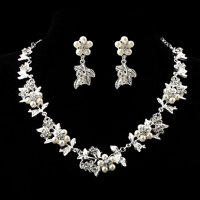 Buy Eissely Prom Wedding Bridal Jewelry Crystal Rhinestone Necklace ... d19cacdc01a7