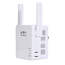 PIXLINK 300M Wireless Router WiFi AP Repeater Network Range Expander Amplifier with USB Charging Port WHITE US PLUG