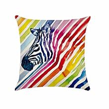 1PC Simple Painting Cartoon Zebra Home Decor Sofa Cushion Covers Pillow Case H02