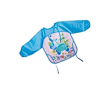Blue Water Proof Long Sleeved Soft Baby/ Toddler  Bib