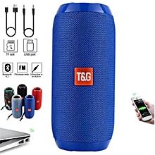 Super Bass Splashproof Wireless Bluetooth Speaker - Blue