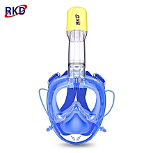 2nd Generation One-piece Gasbag Snorkeling Mask-Blue