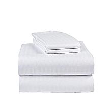 6x6 - Bedsheet -  White Stripe
