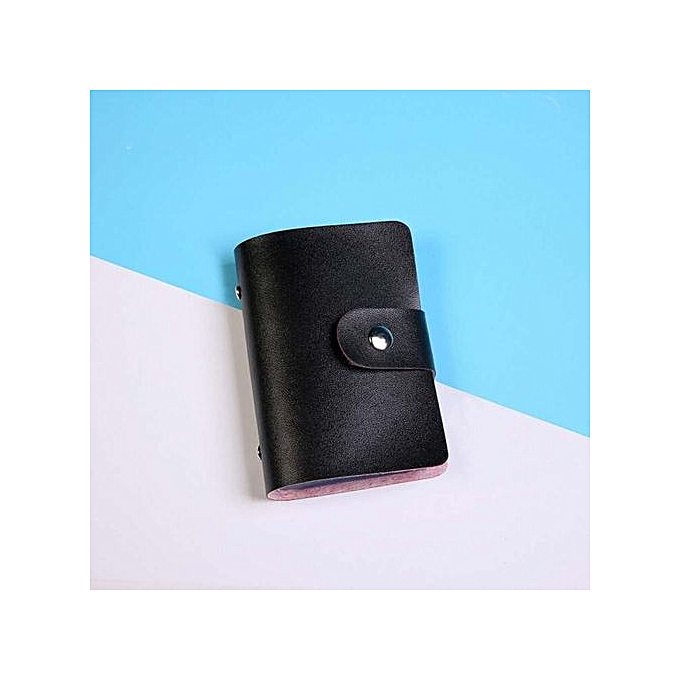 1c6d0d597a01 Store Men Women Leather Credit Card Holder Case Card Holder Wallet Business  Card BK-Black