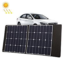 HAWEEL 100W Portable Foldable Solar Charger Outdoor Travel Rechargeable Folding Bag with 2 Solar Panels & USB Port & Handle, Size: L