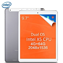 Teclast X98 Plus II 2 in 1 Tablet PC 9.7 inch Windows 10 + Android 5.1 Retina Screen Intel Cherry Trail X5 Z8350 64bit Quad Core 1.44GHz 4GB RAM 64GB ROM HDMI Cameras Bluetooth 4.0-GRAY