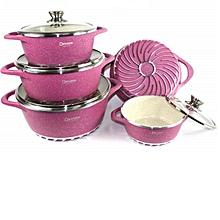 Nonstick Granite-Coated Cookware-Pink
