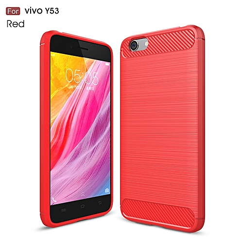 UNIVERSAL For Vivo Y53 Case Cover Soft Silicone Carbon Fiber Shockproof Brushed Mobile Phone For Vivo Y53 Back Cover Phone Cases Funda
