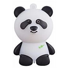 16GB Cute Panda USB Disk Flash Drive(Color:White)