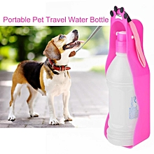 350ml Portable Pet Dog Cat Travel Water Bottle With Bowl Holder Drinking Feeding Tool