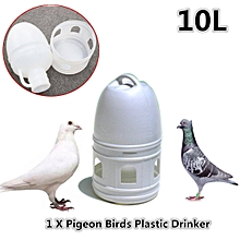 10L 10000ML Removeble White Plastic Drinker with Handle for Pigeon Bird Supplies