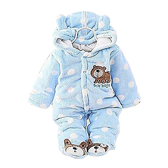 740335386382 Generic Baby Winter Jumpsuit   Romper-Blue   Best Price