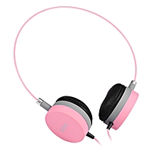 W3 Colorful Stereo Wired 3.5MM Headset Headphones-PINK