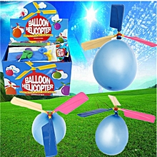 Colorful Traditional Classic Balloon Helicopter Portable Flying Toy -