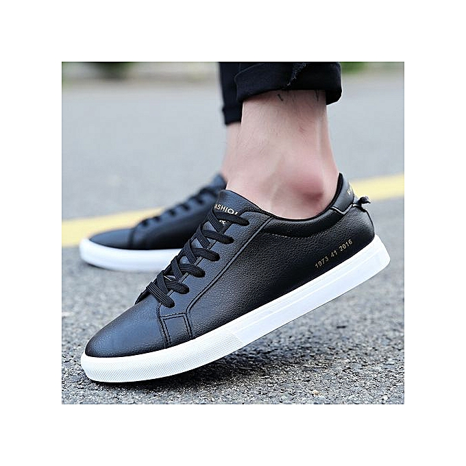 67fff792c14af Mens Canvas Shoes Men Flats Breathable Sneakers Fashion Brand Flat Shoes  Lace-up Mens Leisure White Shoes Walking Sneakers-black