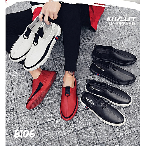 15e13bf204 Generic Hollow small white shoes men s leather shoes men s lazy men s  leisure shoes men s shoes