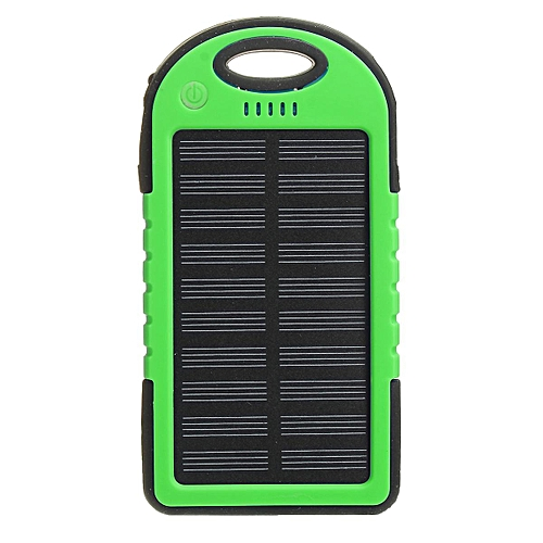 best sneakers e843a 7dbe1 4 Colors 5000mAh Solar Power Bank Dual 2 USB Waterproof Portable Charger  Case(green)