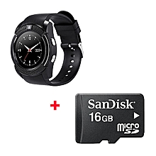 S006 Smart Berry Smart Watch With Free 16gb Memory card  - Black