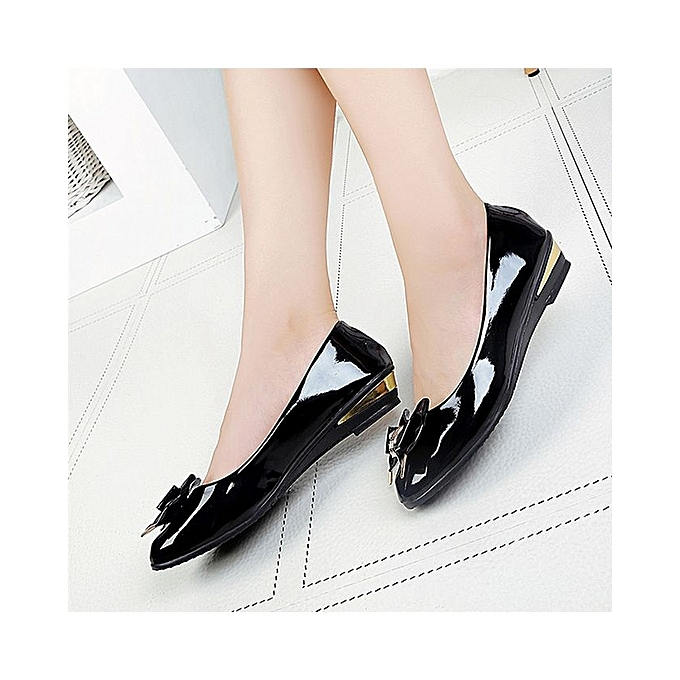 a7c85bbaa73 ... Spring Autumn Toe Flat Heel Bow Tie Shoes Women Fashion Women s Flat  Shoes-Black ...