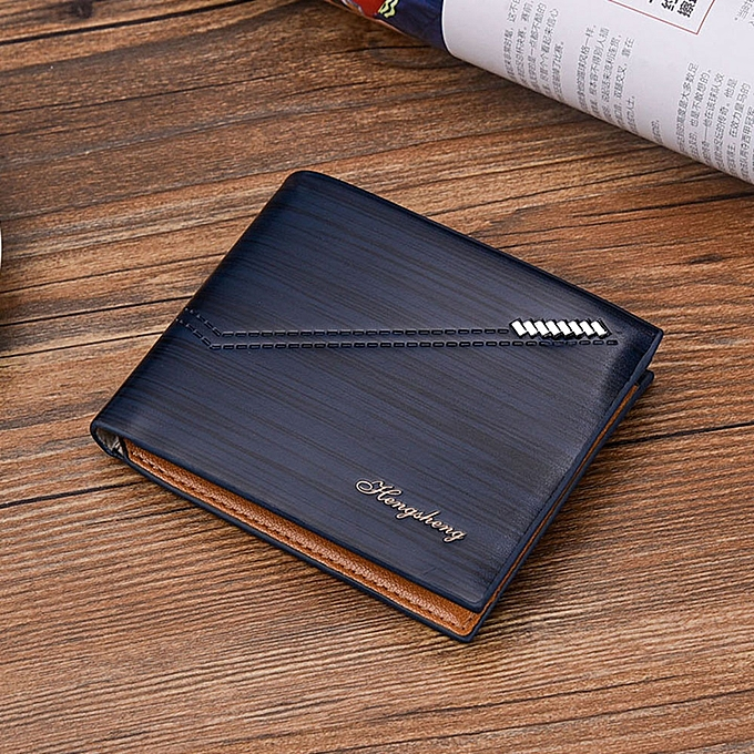 04a88a7bfd3a Hengsheng Fovibery Men RFID Blocking Short Leather Wallet Card ...