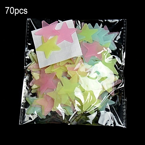 allwin 70pcs star wall sticker fluorescent kids bedroom ceiling star