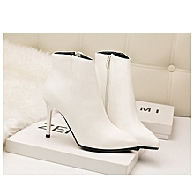 Simple Stylish Sexy Thin Solid Color High Heel Martin Boots