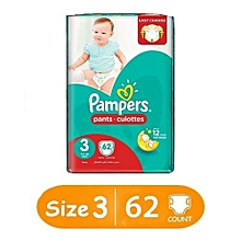 Diaper Pants - Size 3 - Jumbo Pack - (Count 62)