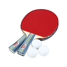 TableTennis Rackets With Balls Portable Ping-pong Paddle Set