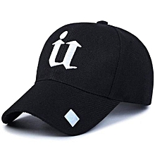 Sports Golf Leisure Hats U Letter Embroidery Sport Cap For Men And Women(Black)