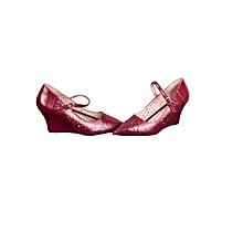 Maroon High-heel Wedged Ladies Shoes