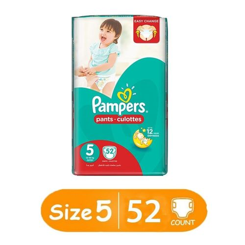 pampers pants diapers size 5 jumbo pack count 52 buy. Black Bedroom Furniture Sets. Home Design Ideas