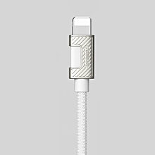 Data Sync Cable For IPHONE 6, 7, 8, X, USB To Lightning Mobile Phone Braided Cable 1m Black