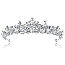 bridal crown jewelry White bride crown hair accessories