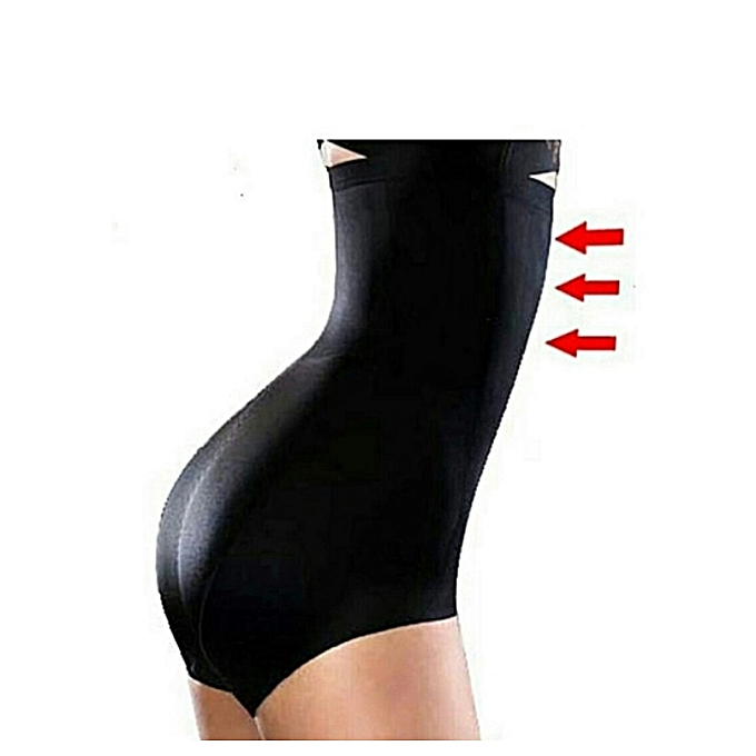 Seamless tummy control shaper/waist slimming shaper panty(black)