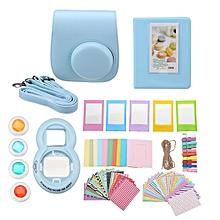 For Fujifilm Instax Mini 8 Camera Accessory Bundles 7 in 1 Bag Kit Tool - Blue