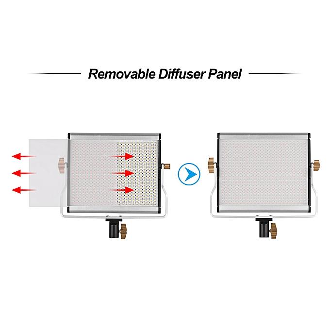 Andoer Portable Video Light Panel Fill-in Lamp Adjustable Brightness  3200-5600K Color Temperature CRI95+ with Light Stand Holder Bracket for  Studio