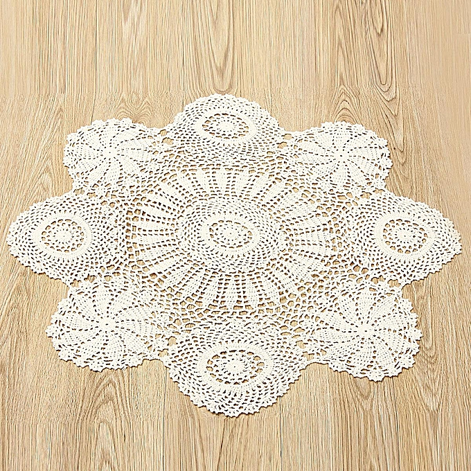 Generic Crochet Lace Doily Placemat Table Mat Cloth Cotton Yarn
