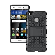 "[P9 Lite 2016] Case, Hard PC+Soft TPU Shockproof Tough Dual Layer Cover Shell For 5.2"" Huawei [Honor 8 Smart][G9 Lite], Black"