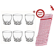 Luminarc Lisbonne Old Fashion Tumbler Set (+ Free Gift Hand Towel).
