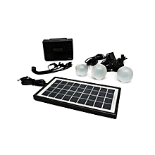 Solar Lighting System with 3 bulbs– Black