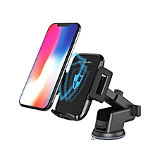 Qi Wireless Car Charger Magnetic Mount Holder For Samsung S9 Note 8 IPhone 8 / X