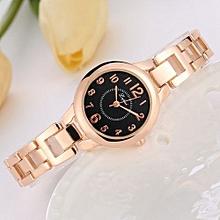Luxury Women's  LVPAI Wrist Watches Classic Women Stainless Steel Crystal Dial Quartz Bracelet Luxury Wrist Watch B-Gold