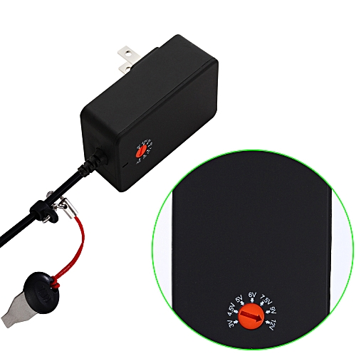 KKMOON DYF-S-A018-01A Power Adapter Switch Power AC DC 3V to 12V Upgrade  Adjustable Universal Charger Selectable Adapter Tip Micro USB Plug for