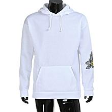 bluerdream-Men's Hoodie Sweatshirt Hooded Tops Jacket Coat Outwear Pullover White/L-White