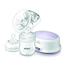 AVENT Electric Breast Pump with Free Disposable Breast Pad Pack- Clear