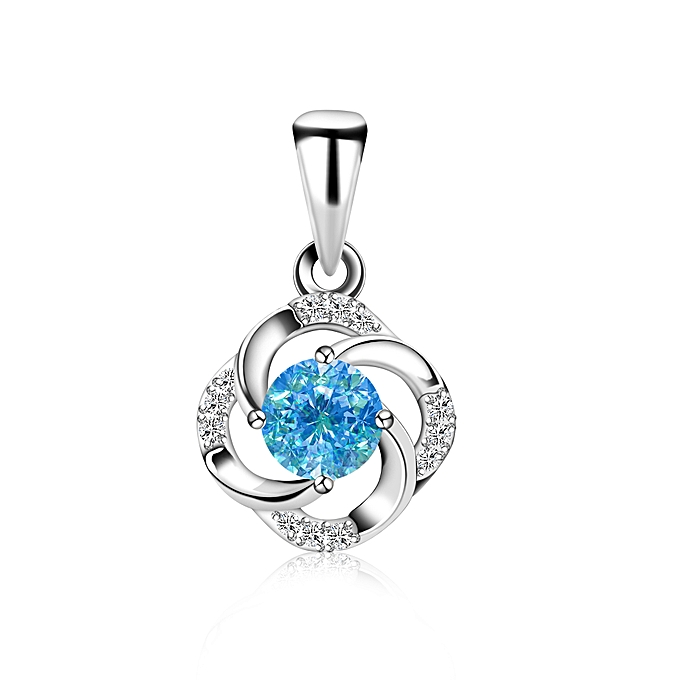 1a7105204ef Silver Gift Pendant Necklace Women 925 Sterling Silver - Blue @ Best ...