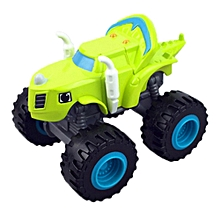 1PC Vehicle with Box Blaze and the Monster Machines Vehicles Diecast Toy Racer Cars Trucks Kid Baby Gift-light green