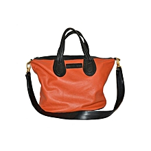 Black/Orange Edith's Handbag